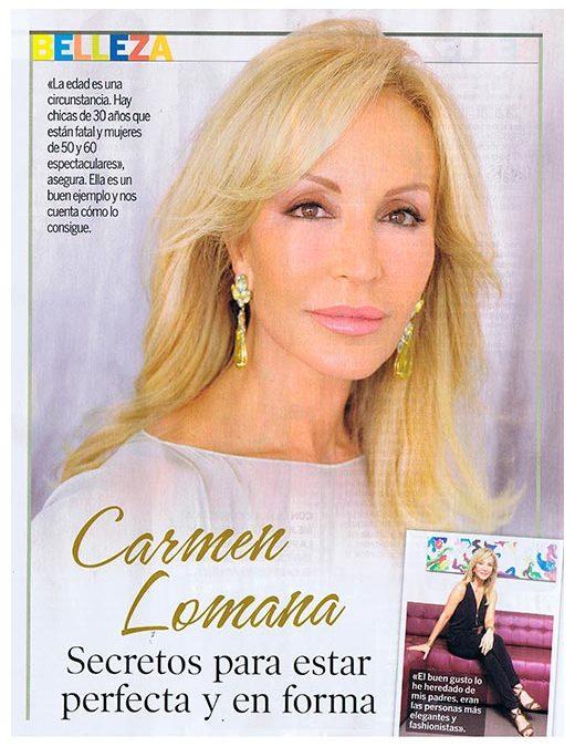 Revista Semana: Carmen Lomana se cuida en Gema Cabañero