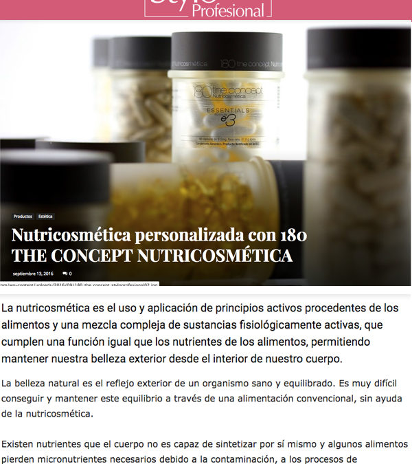 Nutricosmética personalizada 180 THE CONCEPT