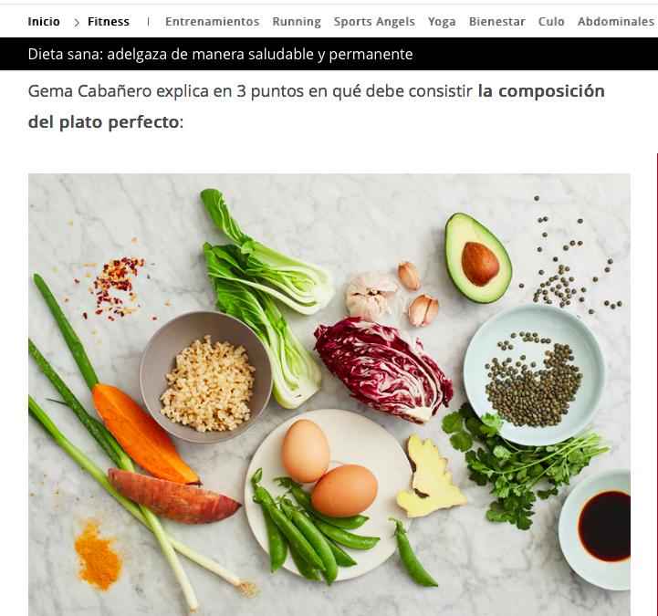 Dieta sana de Gema Cabañero en Telva