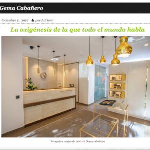 Gema Cabañero y Oxigénesis en un día en Madrid