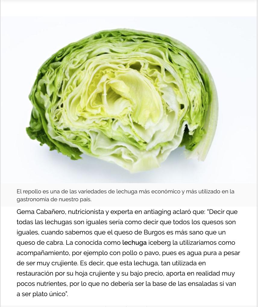 Consejos nutricionales de Gema Cabañero en La Cien Radios.
